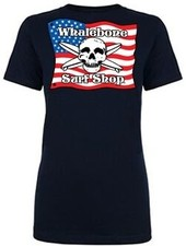 Logo *WOMENS AMERICAN FLAG BOYFRIEND SHORT SLEEVE TEE