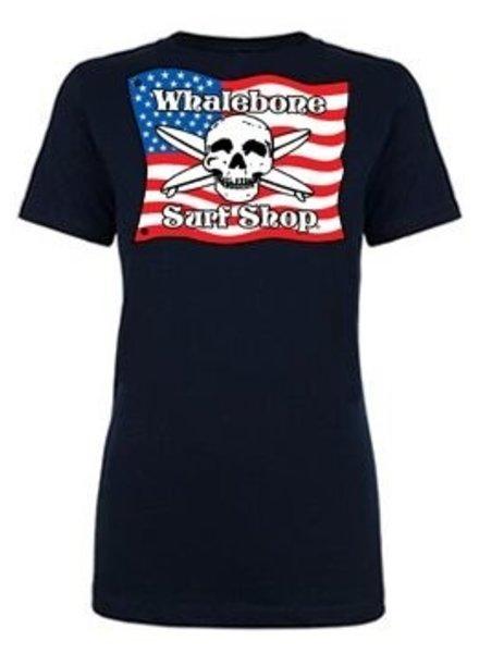 Logo *WOMENS AMERICAN FLAG BOYFRIEND SHORT SLEEVE TEE