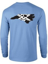 Logo STATE OF NC OUTLINE LOGO LONG SLEEVE TEE