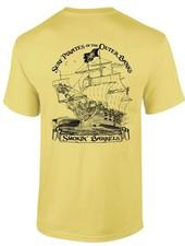 Whalebone Logo MENS SURF PIRATE SHIP PREMIUM SHORT SLEEVE TEE