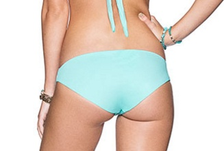 Ladies Swimwear MAAJI CYAN WATERCOLORS HIPSTER CUT BOTTOM