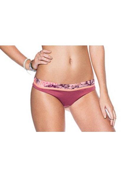 Ladies Swimwear MAAJI CINNABAR ABSTRACTION SIGNATURE CUT BOTTOM