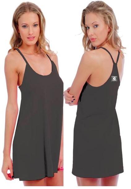 Logo WOMENS WHALEBONE FLARED T-BACK DRESS
