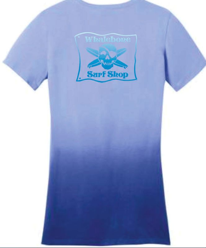 Whalebone Logo WOMENS ORIGINAL LOGO DIP DYE V-NECK SHORT SLEEVE TEE