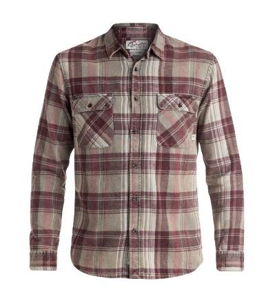 Mens Sportswear QUIKSILVER MENS HAPPY LONGLSEEVE FLANNEL SHIRT
