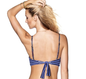 Ladies Swimwear MAAJI 62-16 FLORAL GLAMPERS TOP WITHOUT SOFT CUPS
