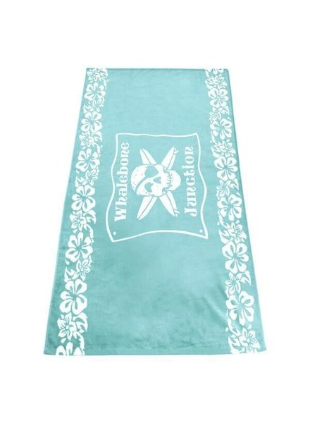 Logo LOGO TOWEL - BLUE FLORAL WHALEBONE JUNCTION WOVEN TOWEL