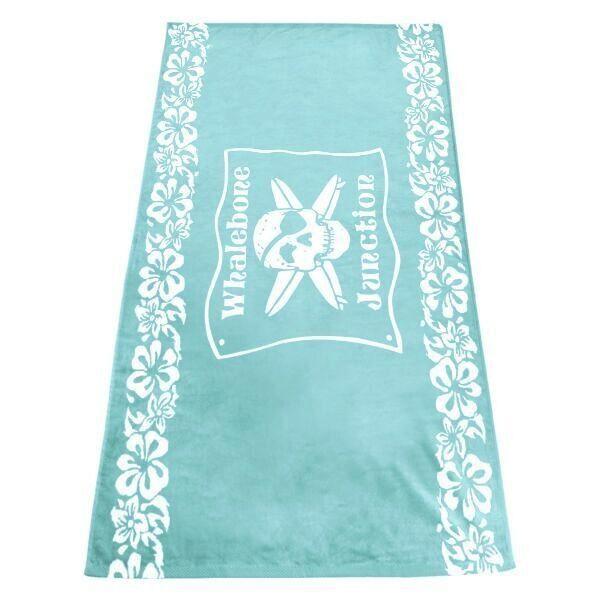 Logo LOGO TOWEL - BLUE FLORAL WHALEBONE JUNCTION WOVEN TOWEL