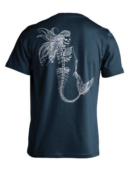 Whalebone Logo MENS MERMAID DAY OF THE DEAD PREMIUM BACK PRINT SHORT SLEEVE TEE