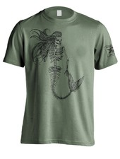 Whalebone Logo MERMAID SKELETON PREMIUM FRONT PRINT SHORT SLEEVE TEE