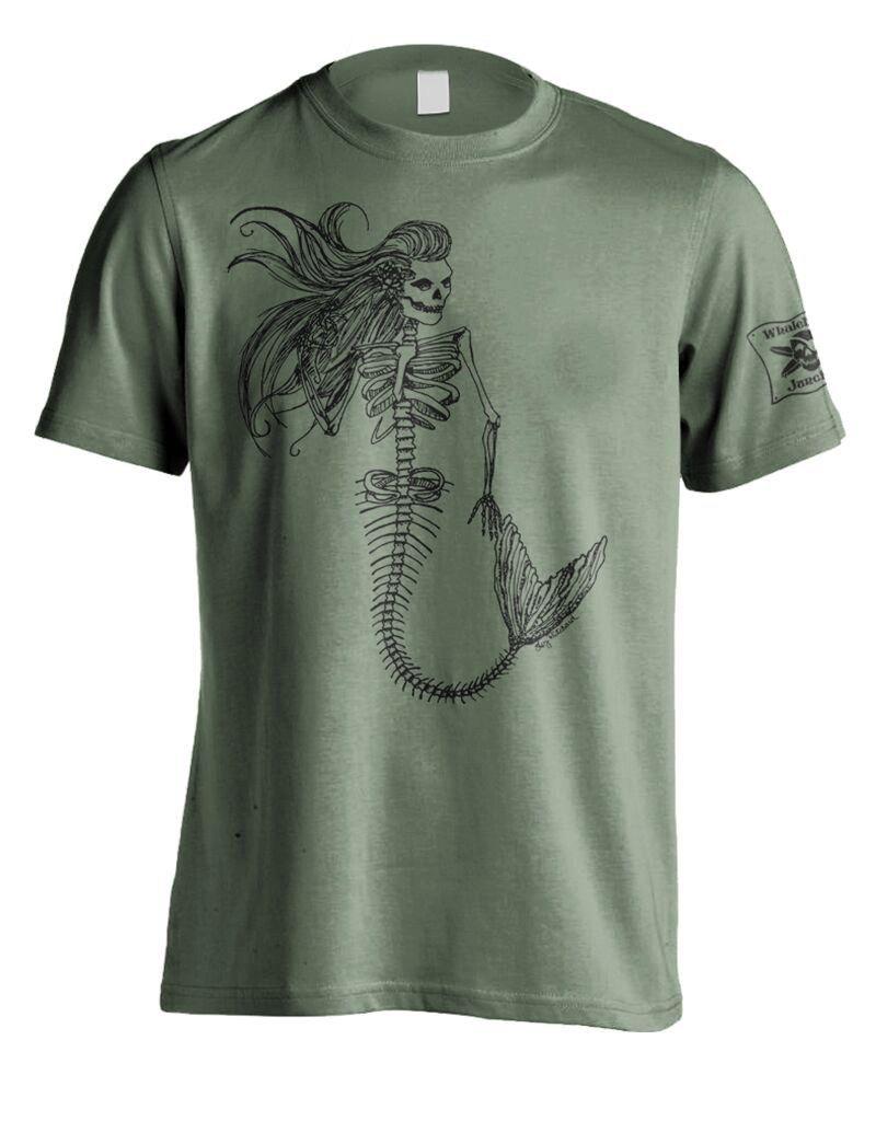 Whalebone Logo MERMAID SKELETON PREMIUM FRONT PRINT SHORT SLEEVE TEE