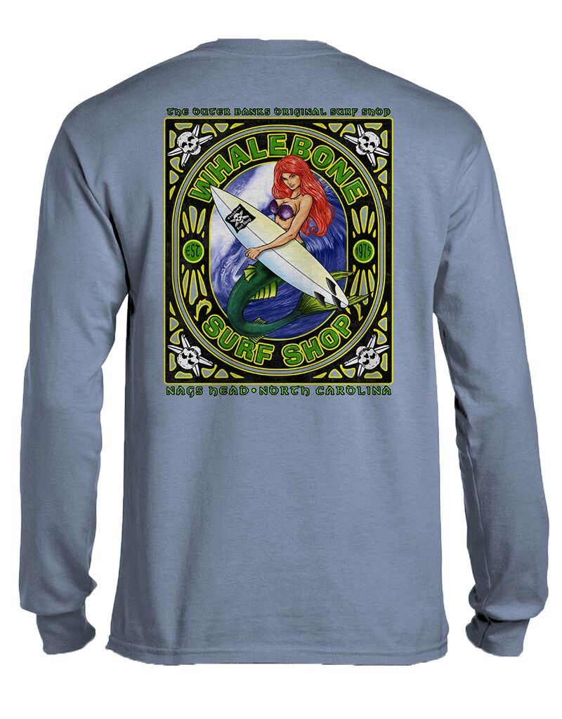Whalebone Logo MERMAID WAVE LONG SLEEVE TEE