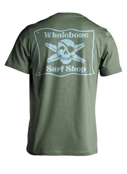 Whalebone Logo *WHALEBONE SURF SHOP BLUE FLAG PREMIUM SHORT SLEEVE TEE