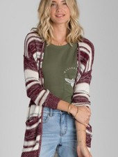Ladies Sportswear BILLABONG STRIPES OVER YOU CARDIGAN
