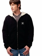 WHALEBONE SHERPA LINED ZIP UP HOODED FLEECE