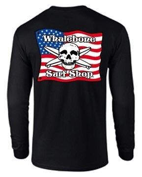 Whalebone Logo AMERICAN FLAG LONG SLEEVE TEE
