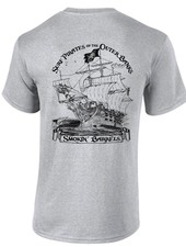 Whalebone Logo MENS SURF PIRATE SHIP SHORT SLEEVE TEE
