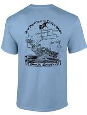 Whalebone Logo SURF PIRATE SHIP PREMIUM SHORT SLEEVE TEE