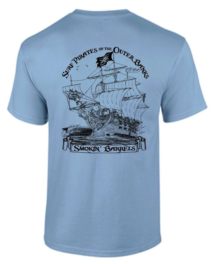 Whalebone Logo SURF PIRATE SHIP PREMIUM SHORT SLEEVE TEE