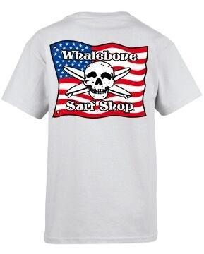 Whalebone Logo KIDS AMERICAN FLAG SHORT SLEEVE TEE