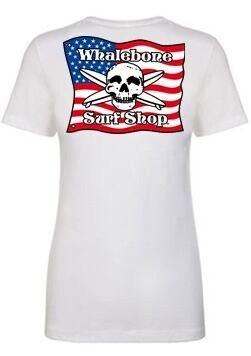 Whalebone Logo WOMENS AMERICAN FLAG BOYFRIEND SHORT SLEEVE TEE