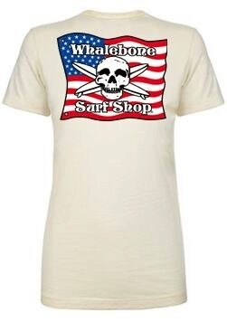 Logo WOMENS AMERICAN FLAG BOYFRIEND SHORT SLEEVE TEE