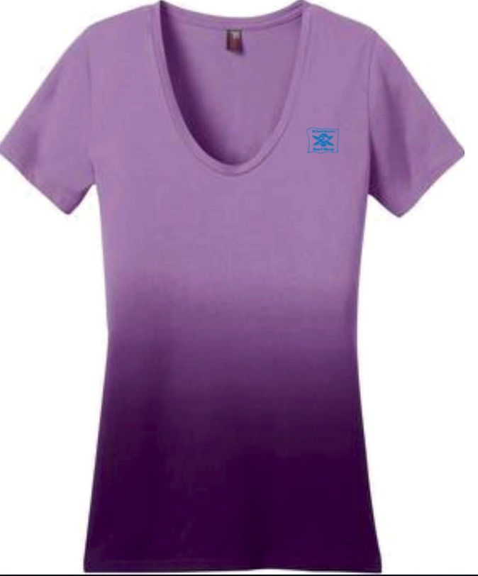 Logo WOMENS ORIGINAL LOGO DIP DYE V-NECK SHORT SLEEVE TEE