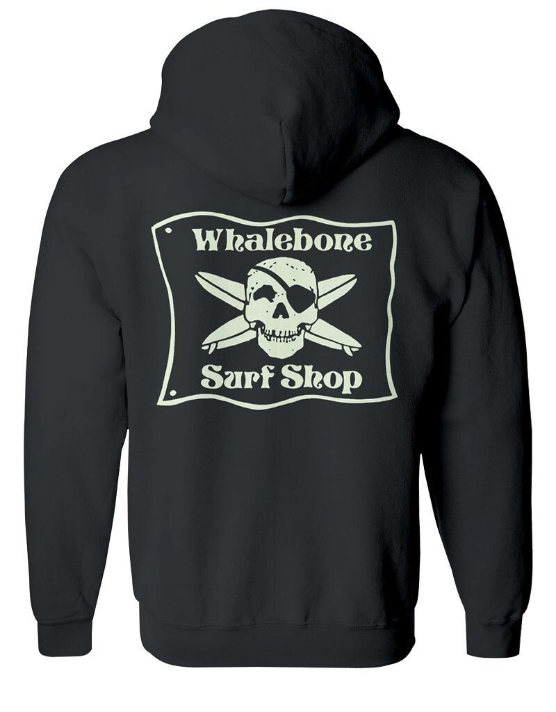 *WHALEBONE SURF SHOP GLOW LOGO ZIP UP HOODIE