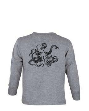 Logo OCTOPUS BACK PRINT TODDLER LONG SLEEVE TEE