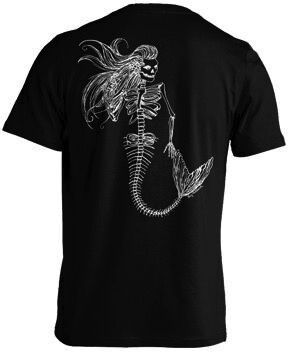 Whalebone Logo MERMAID SKELETON PREMIUM BACK PRINT SHORT SLEEVE TEE