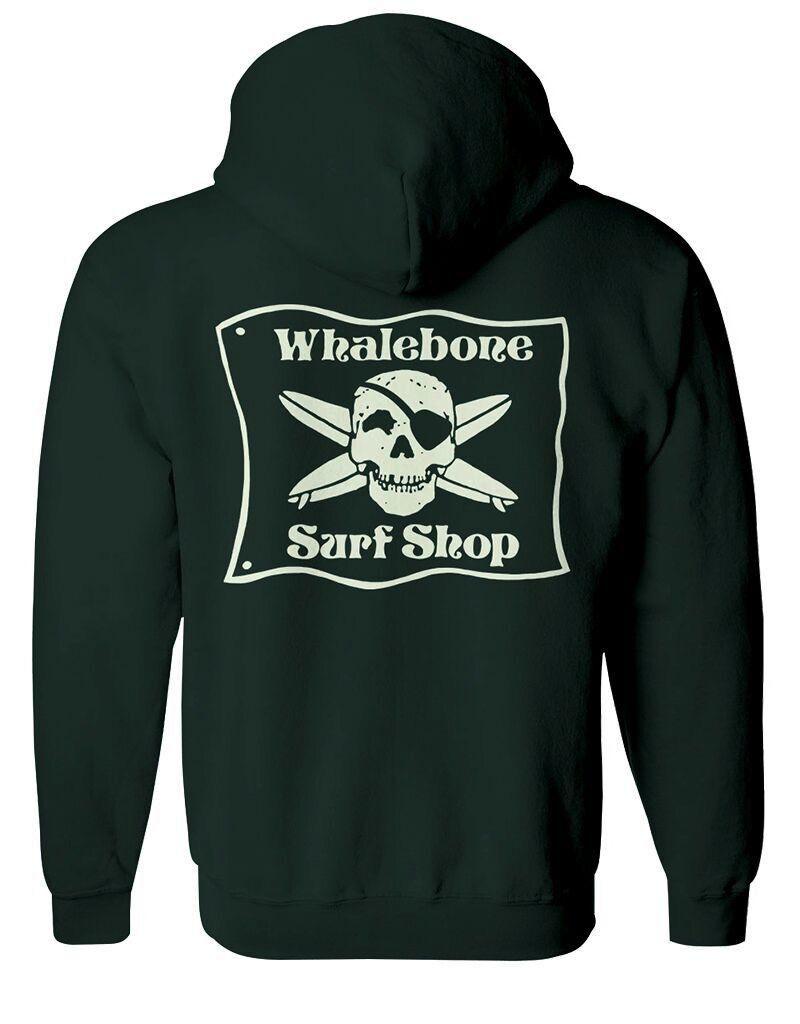 Whalebone Logo *WHALEBONE SURF SHOP GLOW LOGO ZIP UP HOODIE