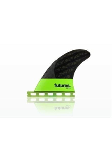 Surf Accessories FUTURES QD2 4.0 BLACKSTIX 3.0 QUAD REAR FINS