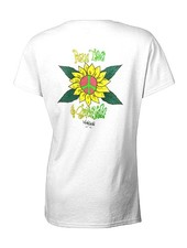 WOMENS PEACE LOVE & GROOVINESS SCOOP SHORT SLEEVE TEE
