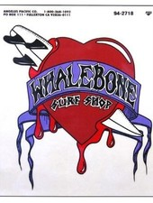 Whalebone Logo LOGO STICKER - BOARD THROUGH HEART