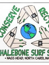 Whalebone Logo LOGO STICKER - REDUCE REUSE RECYCLE
