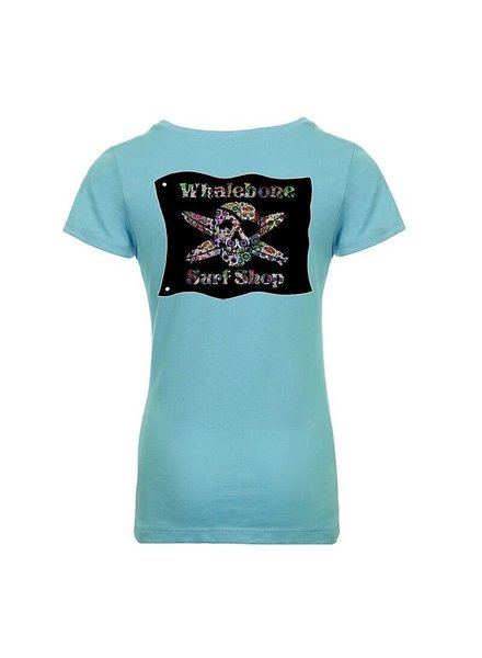 Whalebone Logo GIRLS SUGAR SKULL PRINCESS SHORT SLEEVE TEE