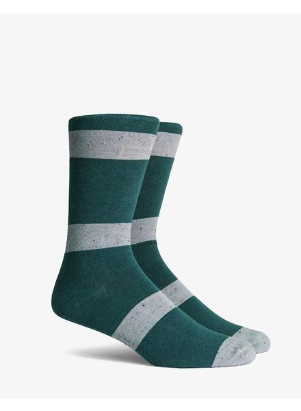 Richer Poorer RICHER POORER LONDON GREEN&GREY CREW SOCK