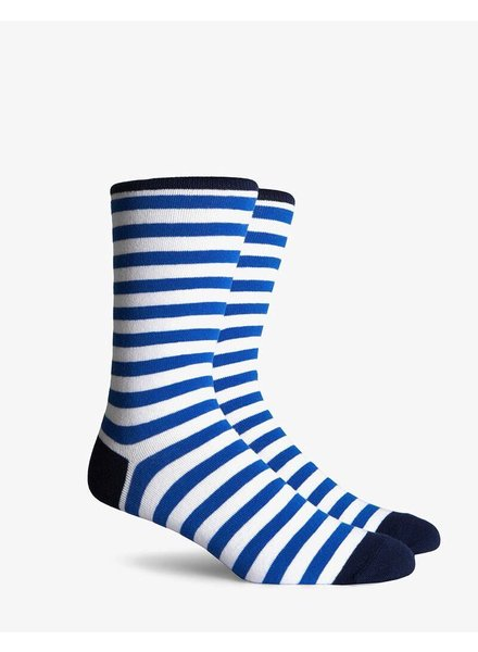 Richer Poorer RICHER POORER THEO WHITE&BLUE CREW SOCK