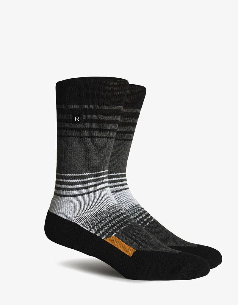 Richer Poorer RICHER POORER BIRCH ATHLETIC  BLACK&WHITE PERFORMANCE CREW SOCK