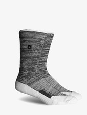 Richer Poorer RICHER POORER LAYBACK ATHLETIC WHITE&GREY PERFORMANCE CREW SOCK