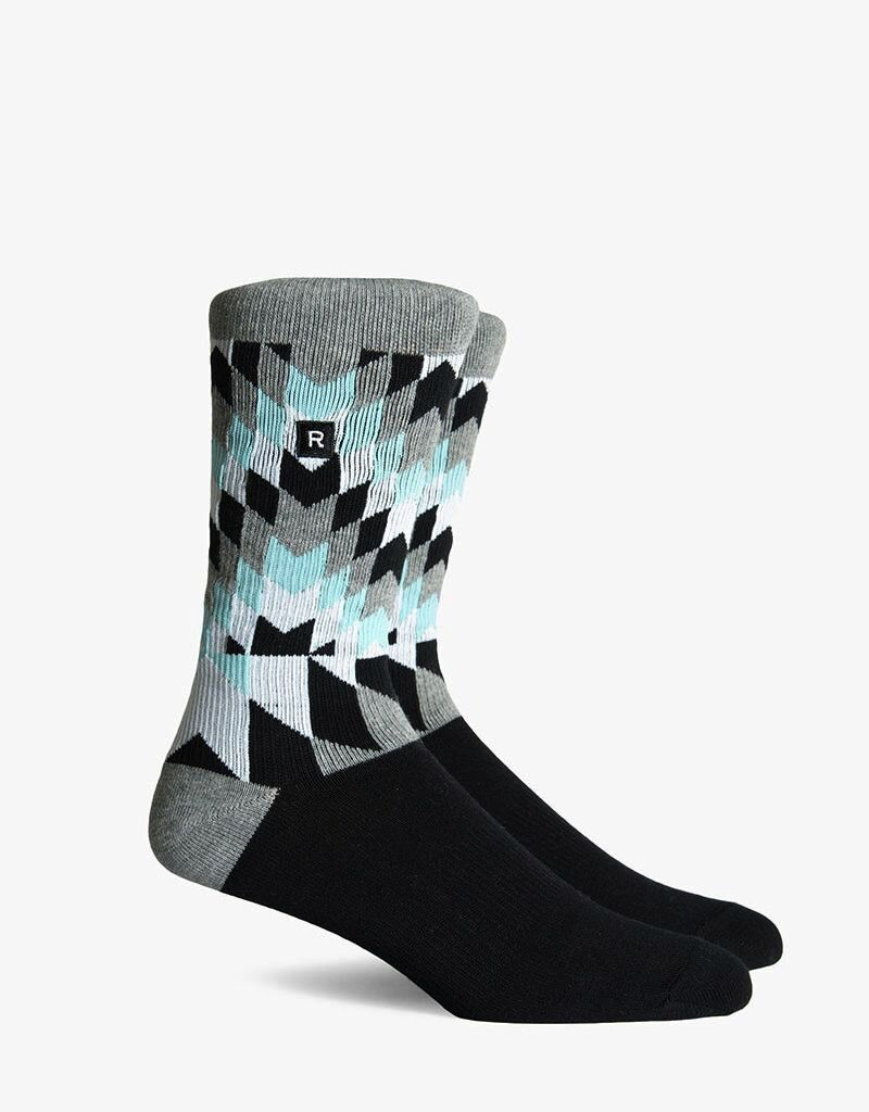 Richer Poorer RICHER POORER CUTLINE ATHLETIC HEATHER GREY COMPRESSION CREW SOCK