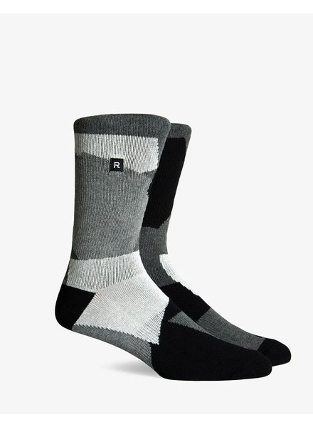 Richer Poorer RICHER POORER GOLDIE ATHLETIC CHARCOAL COMPRESSION CREW SOCK