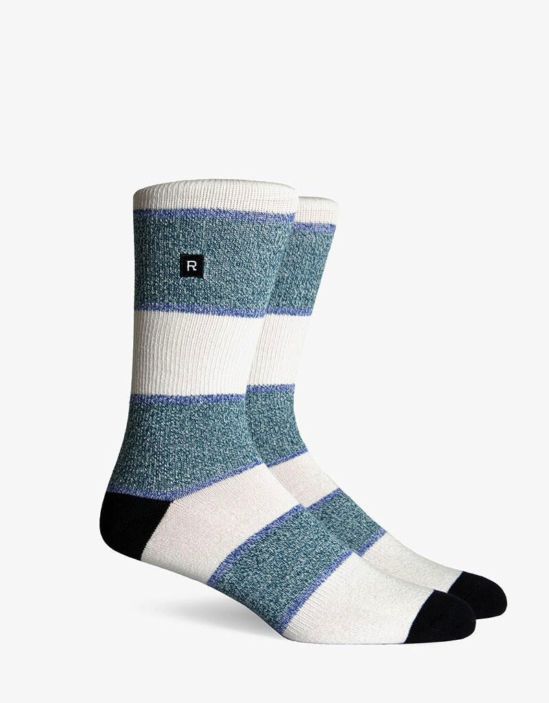 Richer Poorer RICHER POORER GRIFFIN ATHLETIC GREEN COMPRESSION CREW SOCK