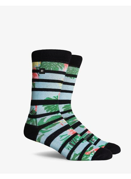 Richer Poorer RICHER POORER HIBISCUS CALI COMPRESSION CREW SOCK