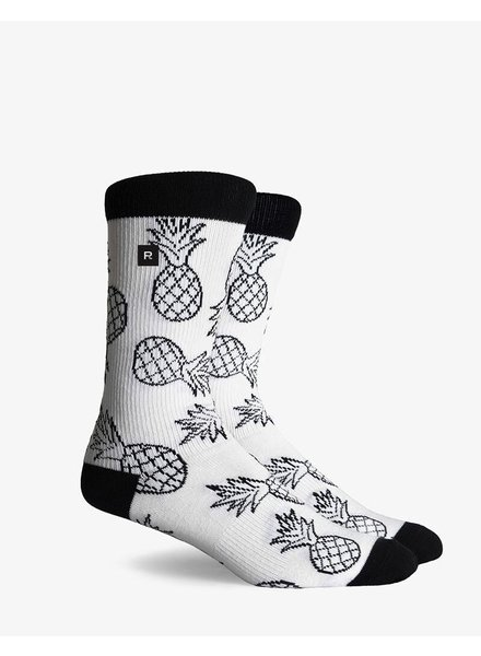Richer Poorer RICHER POORER LUAU CALI WHITE COMPRESSION CREW SOCK