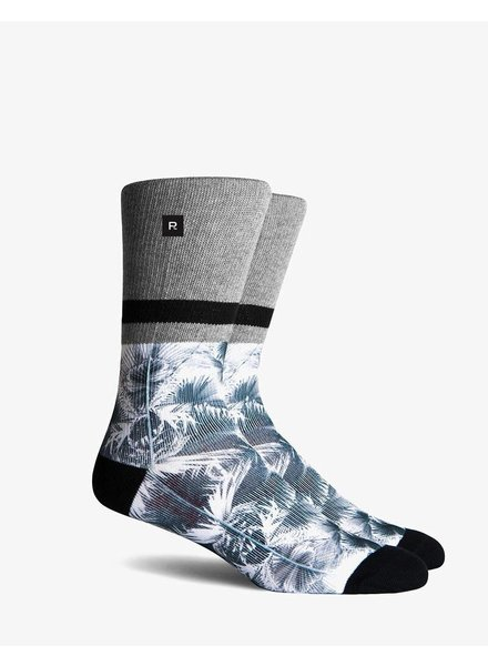Richer Poorer RICHER POORER PALMS ATHLETIC HEATHER GREY COMPRESSION CREW SOCK