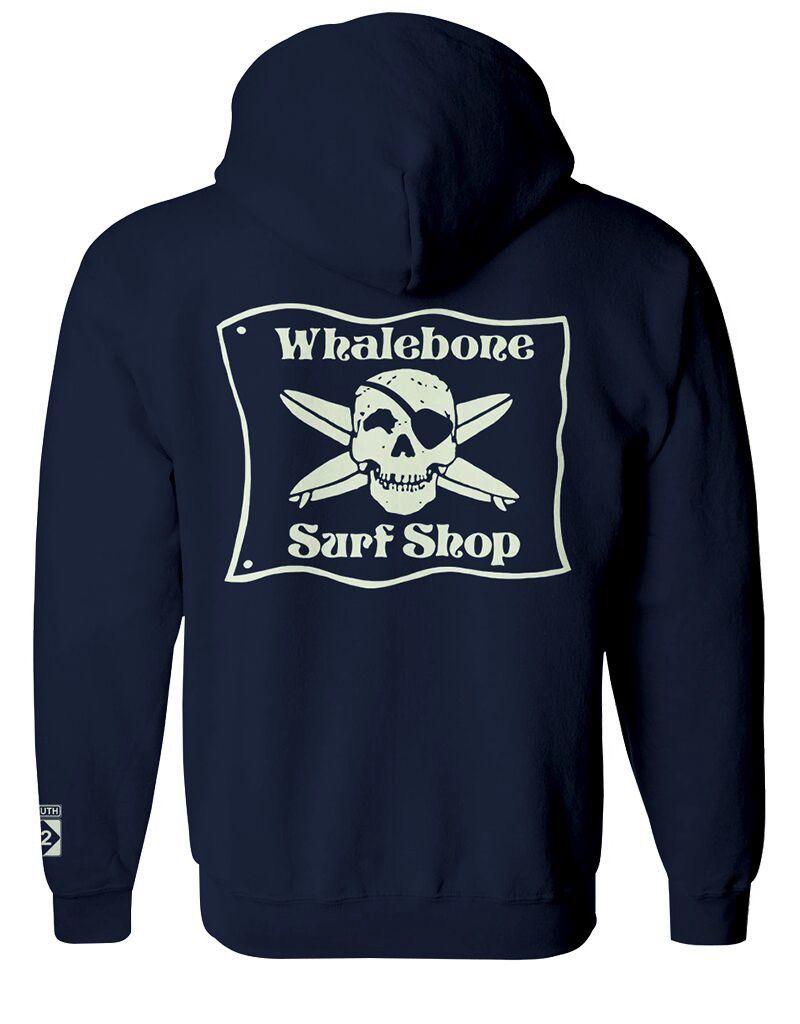 Whalebone Logo *WHALEBONE SURF SHOP GLOW LOGO PULLOVER HOODIE WITH SOUTH 12 ON CUFF