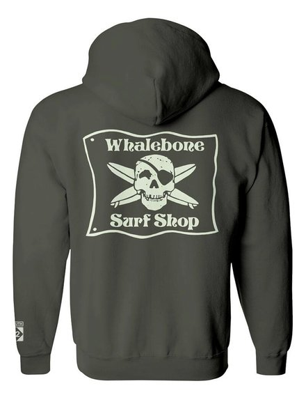 Whalebone Logo *WHALEBONE SURF SHOP GLOW LOGO PULLOVER HOODIE WITH SOUTH 12 ON CUFF