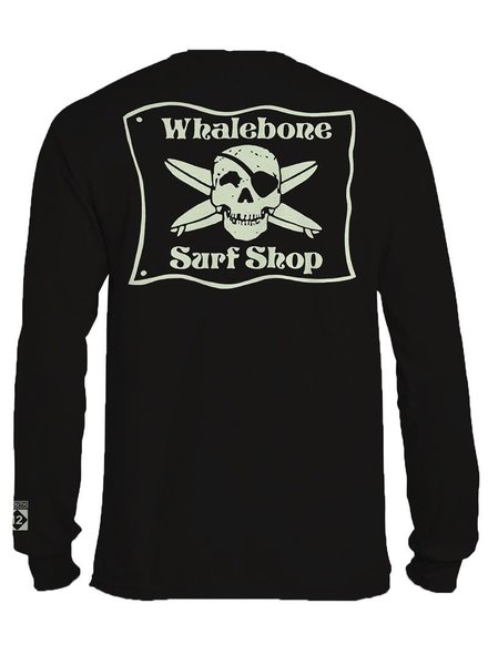 Whalebone Logo *WHALEBONE SURF SHOP GLOW LOGO LONG SLEEVE TEE WITH SOUTH 12 ON CUFF