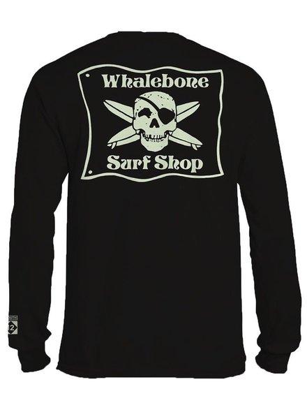 Whalebone Logo *WHALEBONE SURF SHOP GLOW LOGO LONG SLEEVE TEE WITH SOUTH 12 ON CUFF